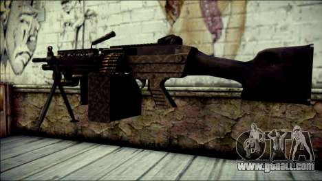 Gold M60 with Custom GTA 5 Icon for GTA San Andreas second screenshot