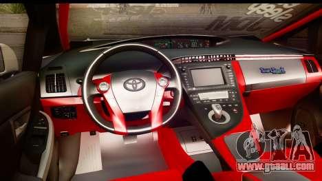 Toyota Prius Hybrid Eri Ayase Love Live Itasha for GTA San Andreas inner view