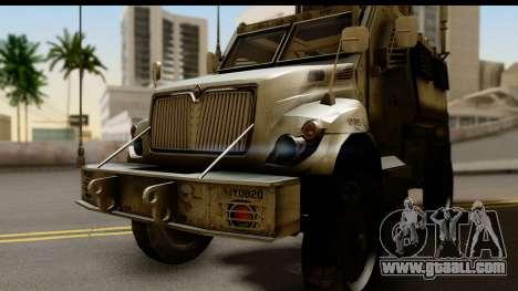 International MaxxPro MRAP for GTA San Andreas back left view