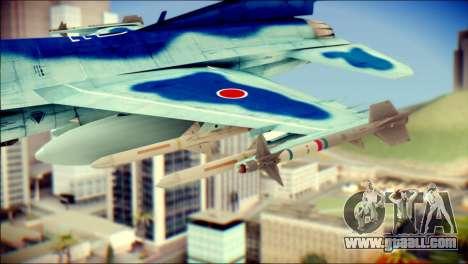 Mitsubishi F-2A JASDF v3.0 for GTA San Andreas right view