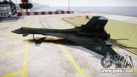 MiG-31 Fire Fox MEC PJ for GTA 4 left view