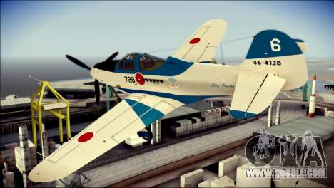 P-39N Airacobra JASDF Blue Impulse for GTA San Andreas left view