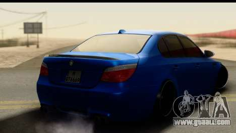 BMW M5 E60 Stanced for GTA San Andreas left view