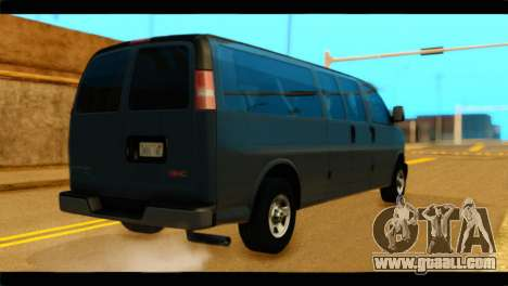 GMC Savana 3500 Passenger 2013 for GTA San Andreas left view