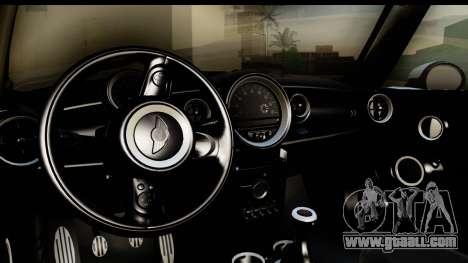 Mini Cooper Clubman 2011 for GTA San Andreas inner view