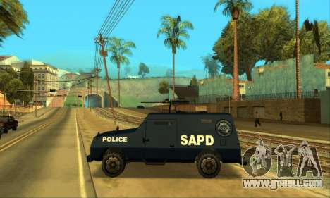 Beta FBI Truck for GTA San Andreas inner view