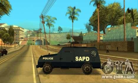 Beta FBI Truck for GTA San Andreas inner view