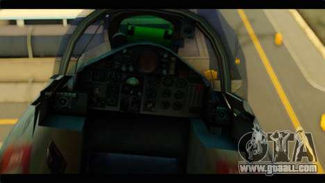 Mitsubishi F-4J JASDF for GTA San Andreas back view