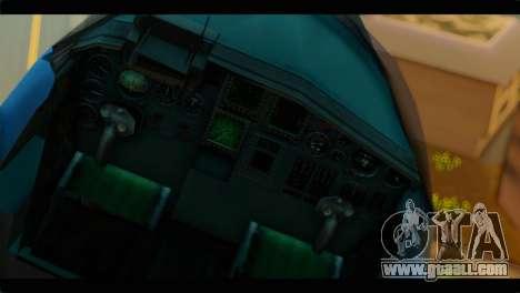 SU-34 Fullback Russian Air Force Camo Blue for GTA San Andreas back view