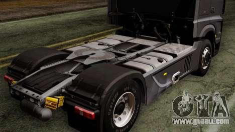 Mercedes-Benz Actros MP4 Euro 6 for GTA San Andreas back view