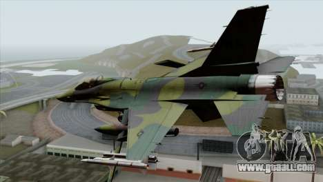 F-16C USAF CAS-EURO for GTA San Andreas left view