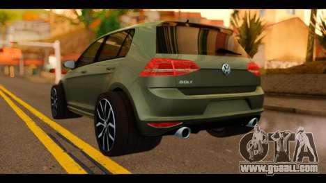 Volkswagen Golf Mk7 2014 for GTA San Andreas left view