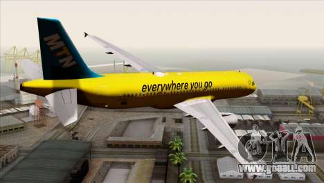 Airbus A320-200 MTN for GTA San Andreas left view