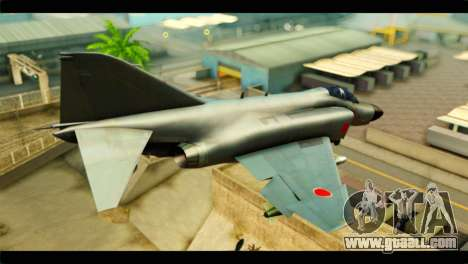 Mitsubishi F-4J JASDF for GTA San Andreas left view