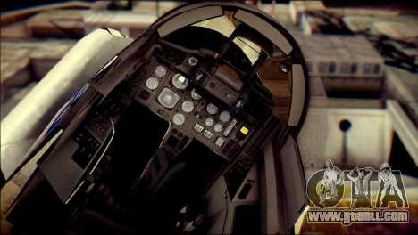 MIG-29 Fulcrum Reskin for GTA San Andreas back view