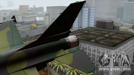 F-16C USAF CAS-EURO for GTA San Andreas back left view