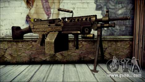 Gold M60 with Custom GTA 5 Icon for GTA San Andreas