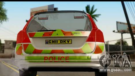 Volvo V70 Kent Police for GTA San Andreas right view