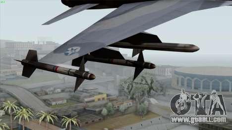 Northrop F-5E Tiger II Wardog Squadron for GTA San Andreas right view