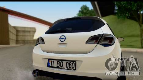 Opel Astra J for GTA San Andreas right view