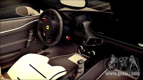 Ferrari 458 Speciale 2015 HQ for GTA San Andreas right view