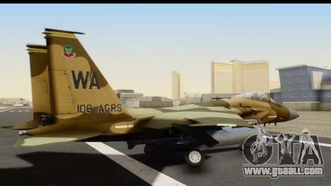 F-15C Eagle Desert Aggressor for GTA San Andreas left view