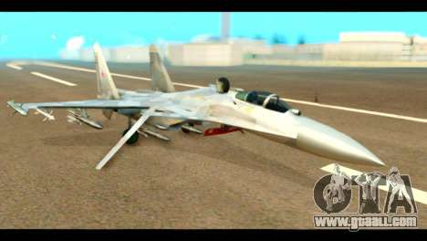 SU-37 Terminator Russian AF Camo for GTA San Andreas
