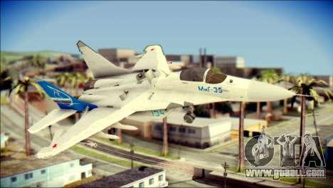 MIG-29 Fulcrum Reskin for GTA San Andreas