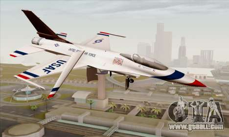 F-16C USAF Thunderbirds for GTA San Andreas