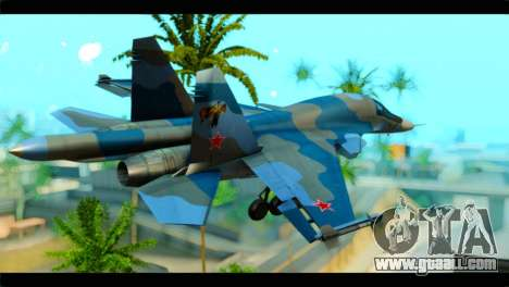 SU-34 Fullback Russian Air Force Camo Blue for GTA San Andreas left view
