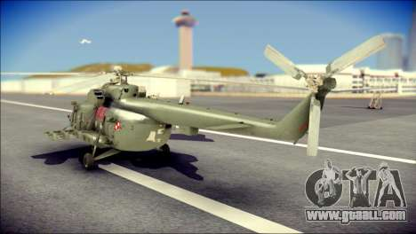 Mil Mi-8 Polish Air Force EUFOR for GTA San Andreas left view