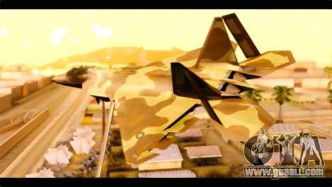 F-22 Raptor Desert Camouflage for GTA San Andreas left view