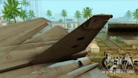 SU-27SK Indonesian Air Force for GTA San Andreas back left view