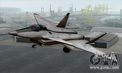 MIG 1.44 Flatpack Russian Air Force for GTA San Andreas back view