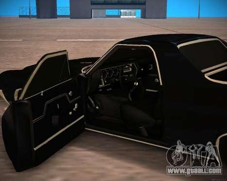 Chevrolet El Camino SS Green Hornet for GTA San Andreas back view