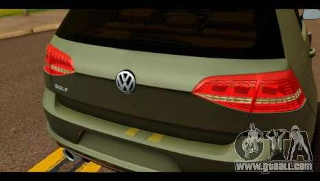 Volkswagen Golf Mk7 2014 for GTA San Andreas back view