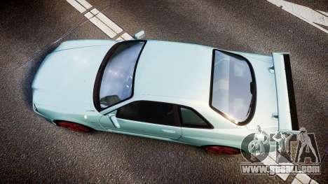 Nissan Skyline R34 GT-R M-Spec Nur for GTA 4 right view