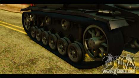StuG III Ausf. G Girls und Panzer for GTA San Andreas back view