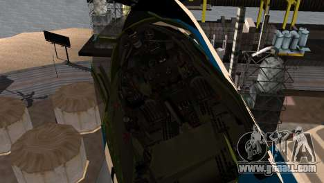 P-39N Airacobra JASDF Blue Impulse for GTA San Andreas right view
