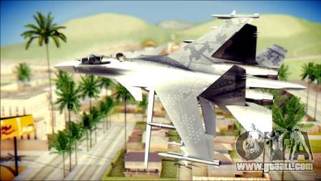 SU-37 Hexagon Madness for GTA San Andreas left view