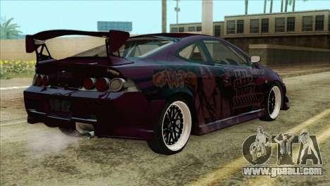 Acura RSX Hinata Itasha for GTA San Andreas left view