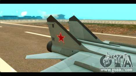 MIG-31 Soviet for GTA San Andreas back left view