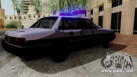 Karin Primo Police for GTA San Andreas back view