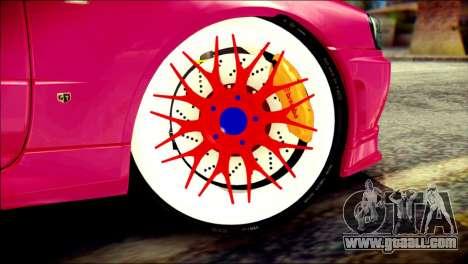 Nissan Skyline GTR V Spec II for GTA San Andreas back left view