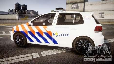 Volkswagen Golf Mk6 Dutch Police [ELS] for GTA 4 left view