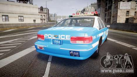 Chevrolet Caprice 1994 LCPD Patrol [ELS] for GTA 4 back left view