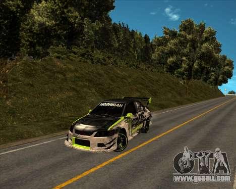 Mitsubishi Lancer Evolution IX Monster Energy DC for GTA San Andreas