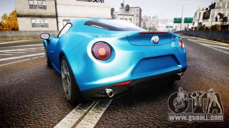 Alfa Romeo 4C 2014 HD Textures for GTA 4 back left view