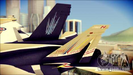 FA-18D Hornet RCAF for GTA San Andreas back left view
