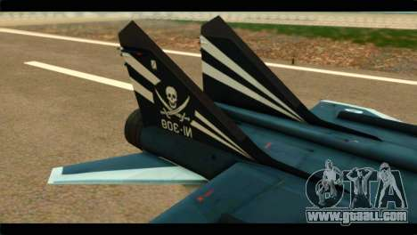 MIG-31 Pirat Squadron for GTA San Andreas back left view